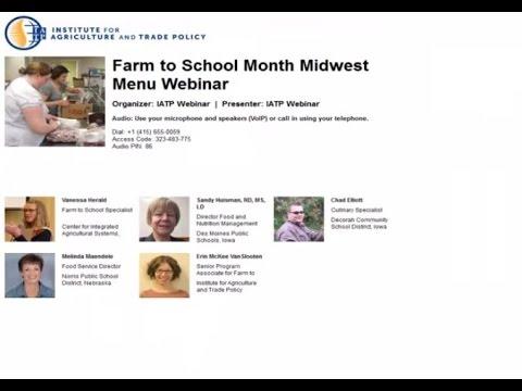 Farm to School Month Midwest Menu Webinar