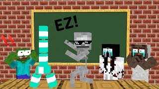- Monster School BOTTLE FLIP CHALLENGE VS GRANNY SLENDRINA BALDI S BASIC Minecraft Animation