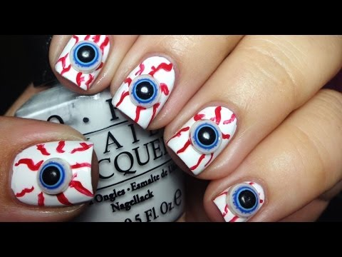 3D Eyeball Halloween Nails - YouTube