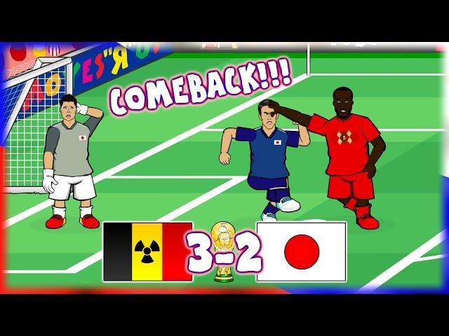 🇧🇪BELGIUM vs JAPAN 3-2!🇯🇵 GREAT COMEBACK! (Vertonghen, Fellaini, Chadli score!)