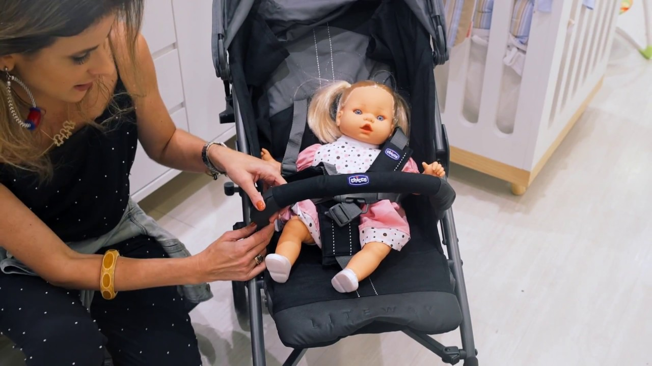 527187140 Carrinho de bebê Chicco LiteWay - YouTube