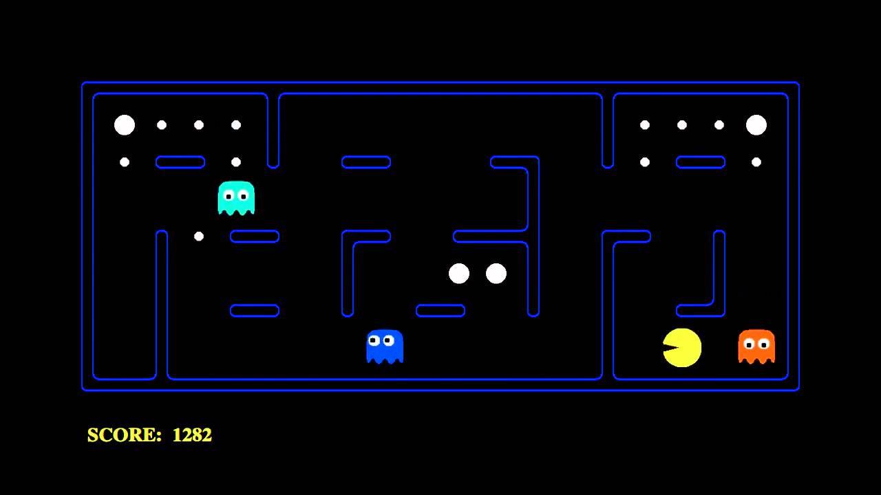 Pac-Man played by an AI agent (CS188 1x)