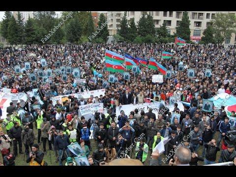 """8 aprel mitinqi-tam video: """"Bu quldurlara imkan verməyəcəyik ki..."""" - Milli Şura Məhsul stadionu"""