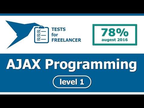 Freelancer - AJAX Programming - level 1 - test (78%)