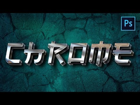 [ Photoshop Tutorial ] Create 3D Chrome Text Effect In Photoshop