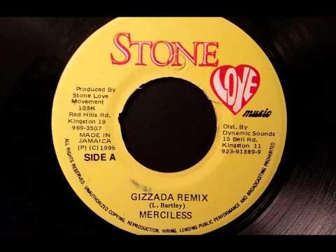 """Merciless - Gizzada Remix - Stone Love 7"""" w/ Version 1996"""