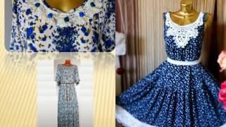 видео Выкройка платья для девочки в народном стиле
