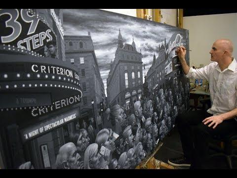 Carl Randall - Piccadilly Circus London Painting.