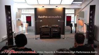 Raidho Acoustics, D5 loudspeakers, Aavik amplifier and phono stage, Ansuz cables, Highend Munich