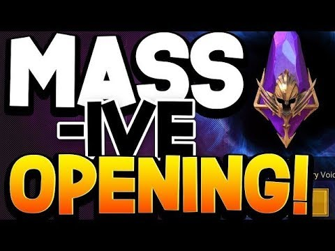 MASSIVE 58 VOID SHARD OPENING! (10x Khoronar Event) +1 Sacred Shard