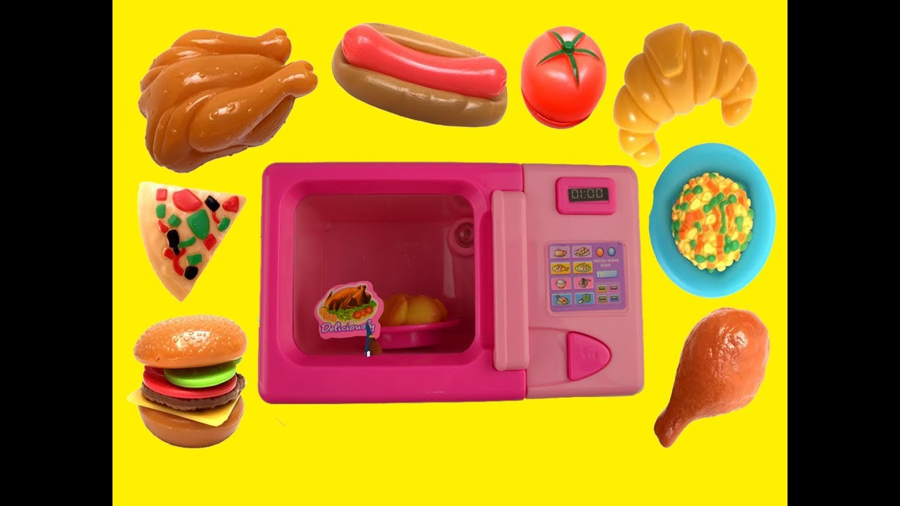 just like home toy microwave oven play kitchen chicken