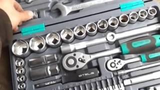 Отзыв обзор набор инструментов  торцовых головок с трещеткой 95 предметов