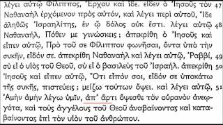 Koine Greek - John 1 (incl. markers)
