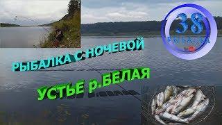 РЫБАЛКА С НОЧЕВКОЙ, УСТЬЕ Р.БЕЛАЯ