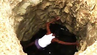 40 Tage lang hat er diese Grube gegraben. Alle dachten, dass er verrückt sei!