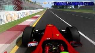 rFactor F1 2012 Felipe Massa Onboard Albert Park Melbourne Australian Grand Prix 1080p Full HD