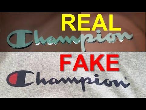 Real Vs Fake Champion T Shirt How To Spot Fake Champion Tees Youtube
