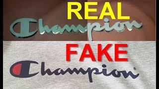 Real vs Fake Champion T shirt. How to