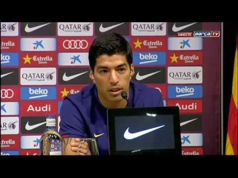 Presentación de Luis Suárez como jugador del FC Barcelona (18/08/2014)