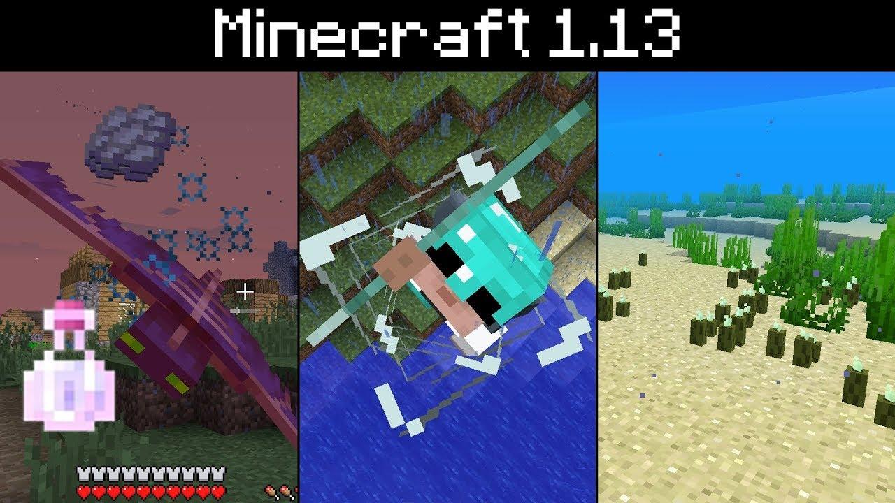 Minecraft 9.93 - Sea Pickles, Phantom Membrane, Riptide Spinning Animation