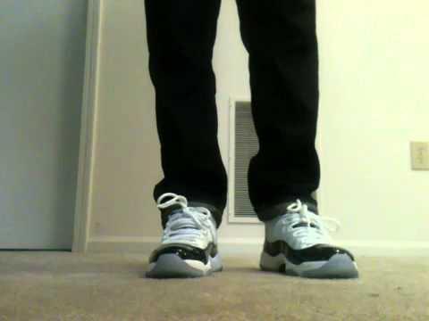 "Jordan 11 ""Concord"" on feet!!"