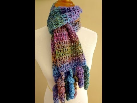 Youtube Crocheting A Scarf : Episode 100: How to Crochet the Celebration Scarf - YouTube