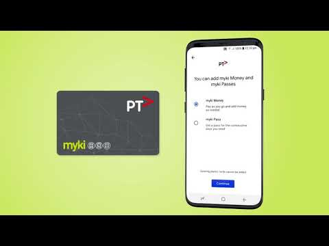Mobile myki - Public Transport Victoria