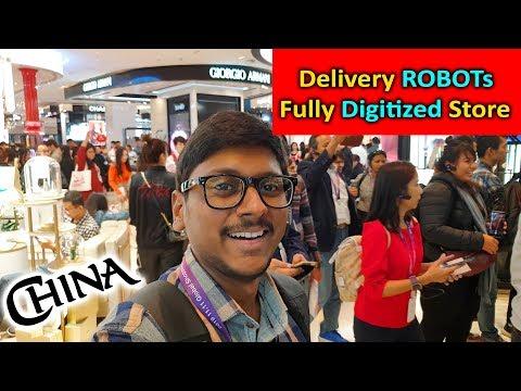 Alibaba's 11.11 Festival & Visiting Futuristic Shopping Malls In China !!