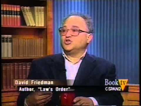 David Friedman - Application of Economic Analysis to the Law