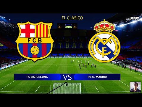 PES 2020 | FC Barcelona Vs Real Madrid - El Clasico | Messi Vs Hazard | Gameplay PC