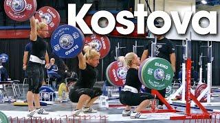 Boyanka Kostova Full Session 110kg Snatch 135kg C&J 180kg Front Squat