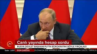 Putin canlı yayında hesap sordu