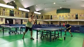 老外一起打桌球 NTHU Table Tennis