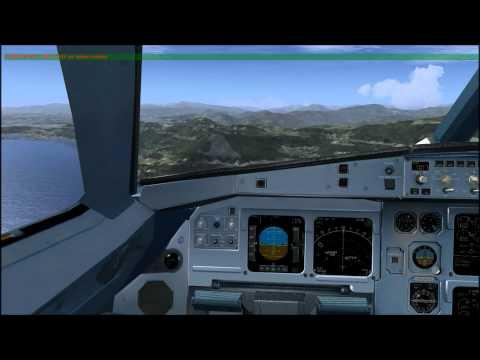 IVAO Alitalia A321 Landing Nice Côte d'Azur International FSX