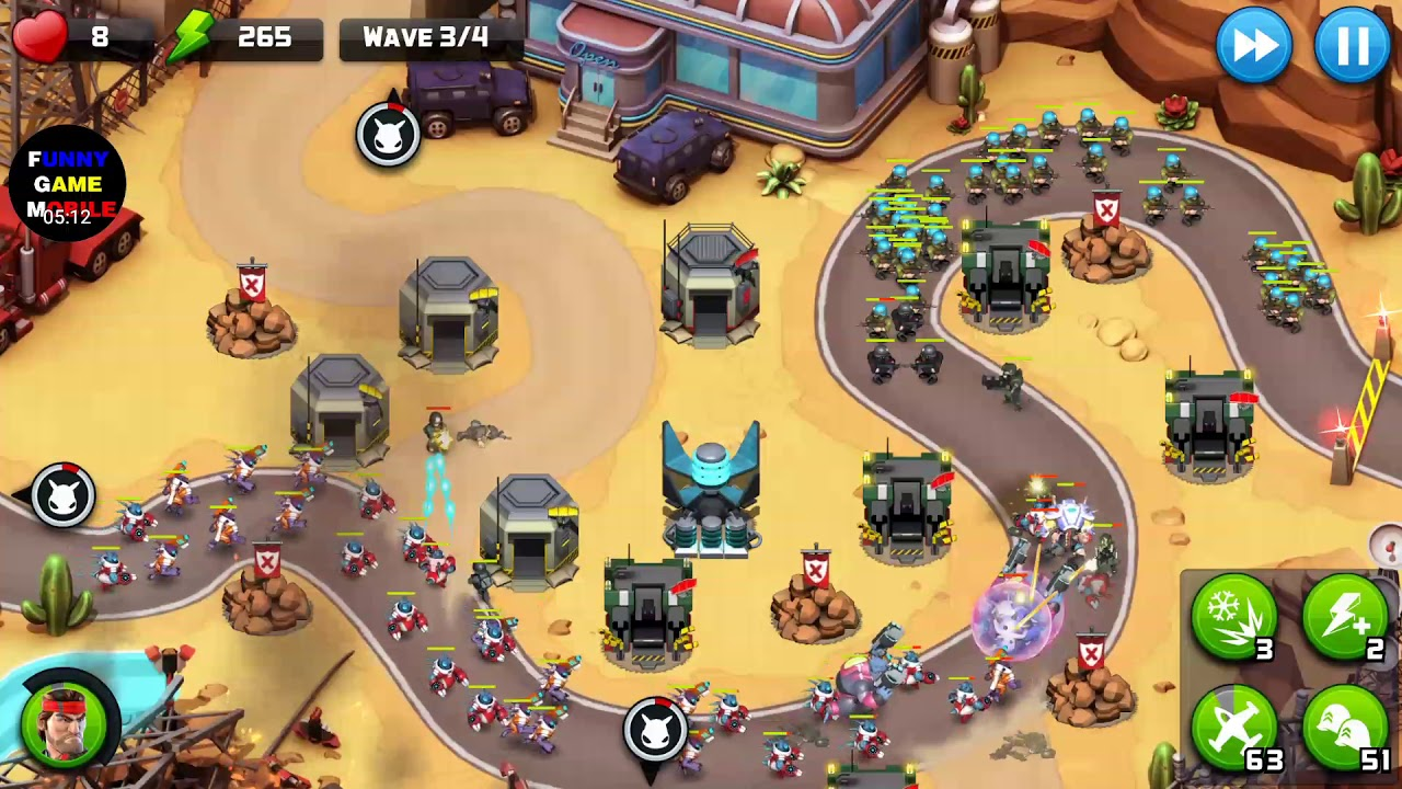 FGMobile – Alien Creeps TD: Event Class F – Rogue ( Insane ,Only Flak Without Mod )