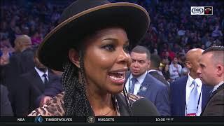 ONE LAST DANCE: Gabrielle Union at Dwyane Wade's career finale 04/10/2019