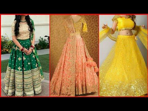 Latest Partywear Lehenga Choli Design2019|Boutique Lehenga Design|Simple Lehenga Design for Wedding