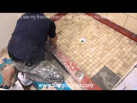 "Part ""4"" How to tile shower Floor - Shower Pan mud bed & preparation DIY"