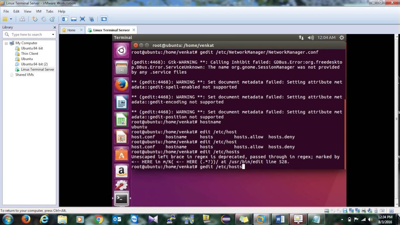 Linux Terminal Server 1 - Ubuntu