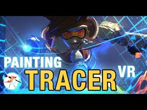 TiltBrush VR Painting - Tracer!! Overwatch!!