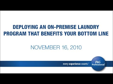 Deploying an On-Premise Laundry Program that Benefits Your Bottom Line