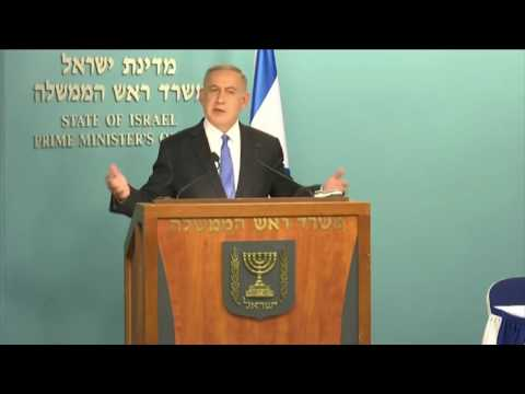 Benjamin Netanyahu Responds to John Kerry's speach on Middle East Peace