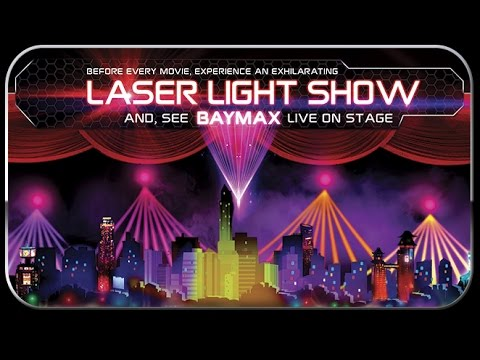 Disney Big Hero 6 Laser Light Show El Capitan Theatre Hollywood California - Complete Show!
