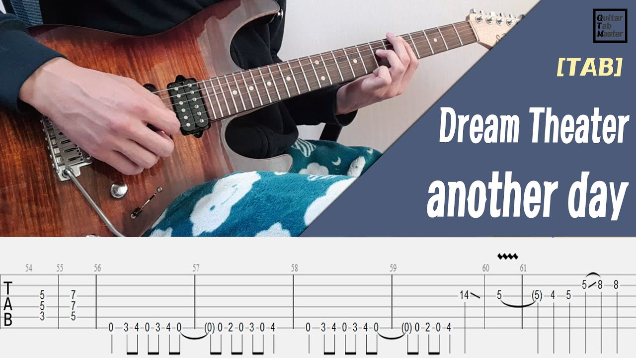 [TAB] Dream Theater - Another day guitar solo