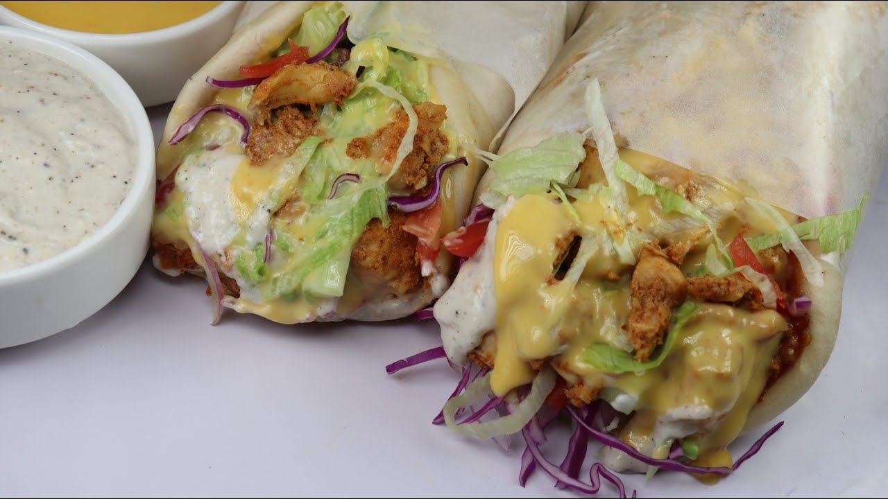 Chicken Cheese Shawarma By Recipes of the World