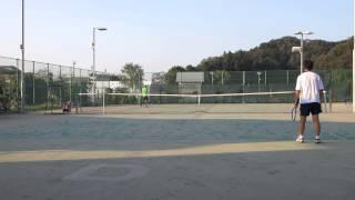 村山市民テニス大会 男子シングルス2014/10/12 決勝 その3