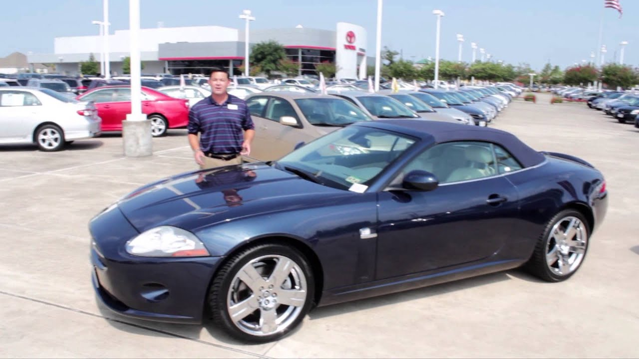 Used Pre Owned Luxury 2007 Jaguar XK Convertible | Fred Haas Toyota Country  Houston TX   YouTube