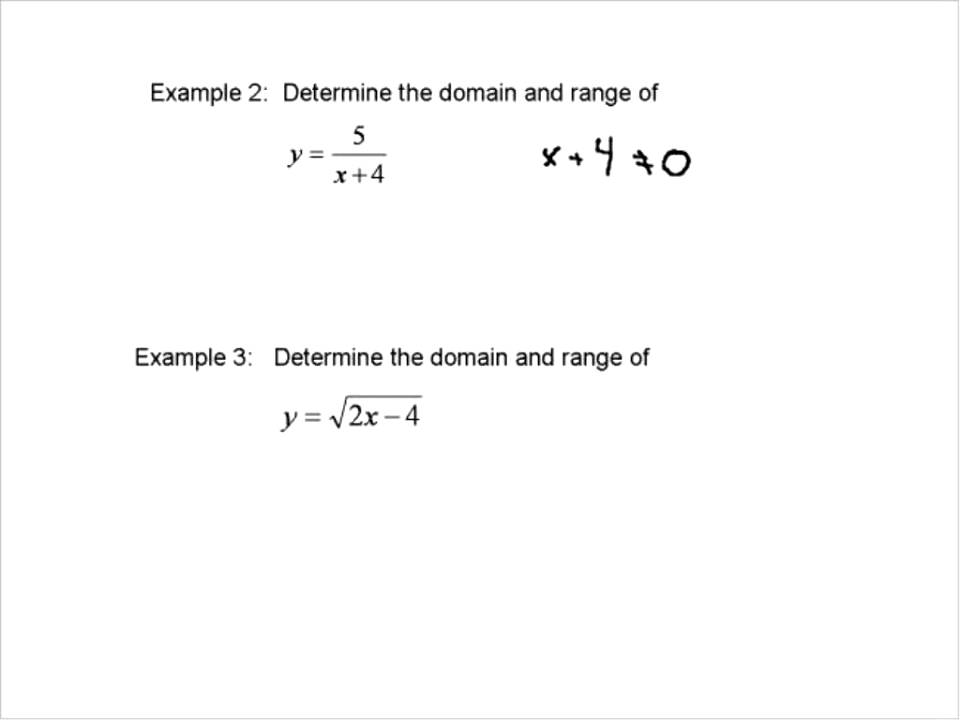 Domain Range Of A Function Youtube