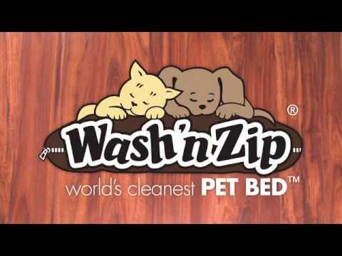 the-wash-'n-zip-pet-bed-official-1-minute-demo-video