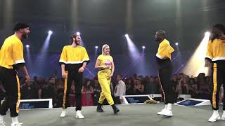 Anne Marie singing & dancing Ciao Adios  live - Consumer Live, 2018 Video